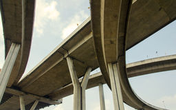 large crossing highway overhead Stock Image