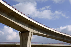 Large crossing traffic highway viaducts Stock Images