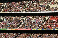 Large crowd. Sit in grandstand for Australian rules football at the telstra dome Melbourne