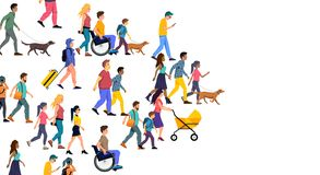 A large Crowd of Casual People vector illustration