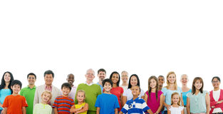 Large Crowd Community  People Unity Support Concept Stock Image