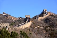 Large crowd on the Great Wall of China Stock Photography