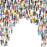 Large Crowd Of People. Illustration of a large crowd of people with room for copyspace Royalty Free Stock Photography