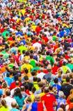 Marathon runners people running