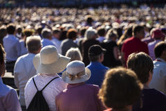 Large crowd of people Stock Images