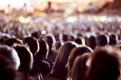 Large crowd of people. Watching concert or sport event Stock Image