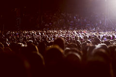 Large crowd of people. Watching concert or sport event Stock Photography