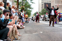 Large Crowd Of Spectators Watch Dragon Con Parade In Atlanta Stock Images