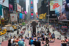 Large crowd at Times Square, New York Stock Images