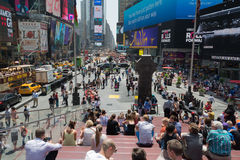 Large crowd at Times Square, New York Stock Photography