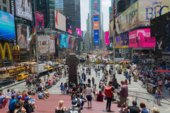 Large crowd at Times Square, New York Royalty Free Stock Images