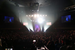 Large crowd watches Comedian, Fluffy, Gabriel Iglesias preforms Stock Images