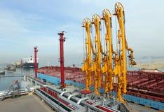 Large crude oil terminal Royalty Free Stock Photo