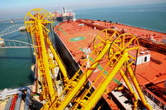 Large crude oil terminal Royalty Free Stock Photography