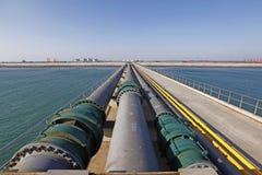 Large crude oil terminal Royalty Free Stock Photos
