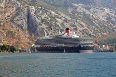 Large cruise liner stock image