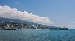 Large cruise liner in the Yalta. Ukraine Royalty Free Stock Image