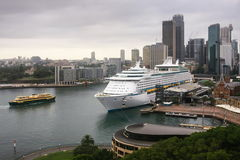 Large cruise ocean liner in Sydney, Australia Royalty Free Stock Photography