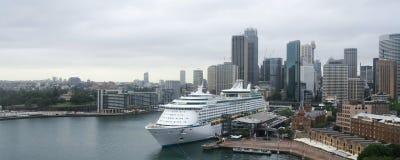 Large cruise ocean liner in Sydney, Australia Stock Image