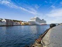 Large Cruise Ship Stock Image