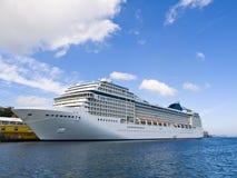 Large Cruise Ship. Docked in the Stavanger harbor Stock Image