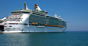 Large cruise ship at anchor Stock Photography