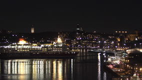 large cruise ship arrive stock video footage