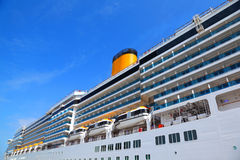 Large cruise ship with balcony Royalty Free Stock Photography