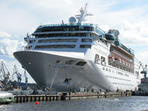 Large cruise ship. Big ship (large cruise liner). Tourism. Journey. Voyage Stock Photos