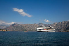 Large cruise ship Celebrity Constellation in Boka Kotorsky Bay. Montenegro Stock Photography
