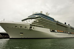 Large Cruise Ship on Cloudy Day Royalty Free Stock Photos