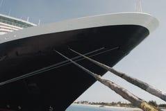 Large Cruise ship docked at Grand Turk Stock Image