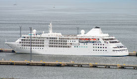 Large cruise ship. Royalty Free Stock Photos