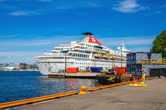 Large cruise ship in Oslo Fjord, Norway Royalty Free Stock Photography