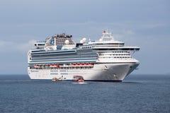 Large cruise ship Sapphire Princess in sea water near island Koh Samui, Thailand Stock Image