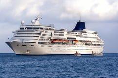 Large Cruise Ship at Sea Royalty Free Stock Photos