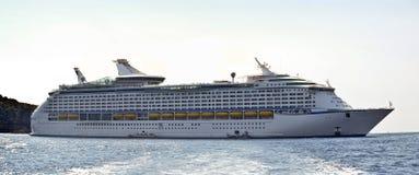 Large cruise ship at sea. Large cruise ship, at the Mediterranean sea royalty free stock photos