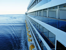 A large cruise ship at sea Royalty Free Stock Images