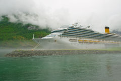 Large cruise ship  in the western area Royalty Free Stock Images