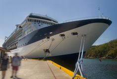 Large cruiseship. Huatulco, Mexico Stock Photo