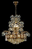Large crystal chandelier in baroque style isolated on black background. Luxury royal expensive chandelier for living room, Hall of celebration royalty free stock images