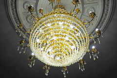 Large crystal chandelier Stock Images