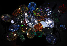 Large crystal strasses Stock Photos