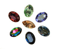 Large crystal strasses Royalty Free Stock Images