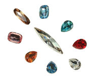 Large crystal strasses Stock Image