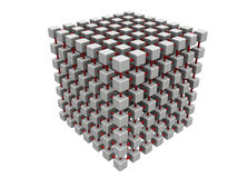 Large cube mesh Royalty Free Stock Photo