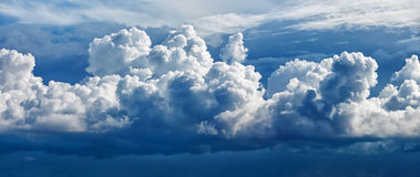 Large cumulus cloud - a panoramic photo Royalty Free Stock Images