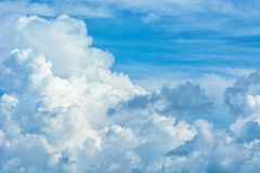Large cumulus clouds in a blue sky Royalty Free Stock Image