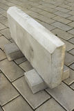 Large curb stone is made of concrete Royalty Free Stock Photos