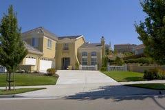 Large Custom Contemporary Estate Home. Exterior shot of a large custom estate home Stock Photo